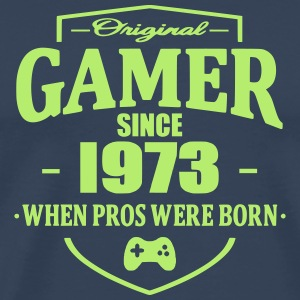 Gamer Since 1973 T-skjorter - Premium T-skjorte for menn