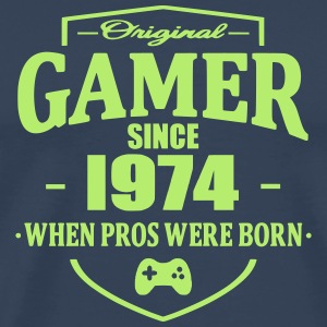 Gamer Since 1974 T-skjorter - Premium T-skjorte for menn