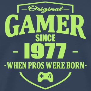 Gamer Since 1977 T-shirts - Herre premium T-shirt