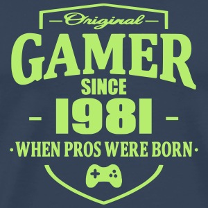 Gamer Since 1981 T-skjorter - Premium T-skjorte for menn