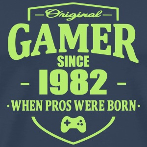 Gamer Since 1982 T-skjorter - Premium T-skjorte for menn