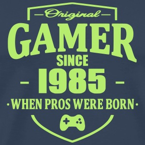 Gamer Since 1985 T-skjorter - Premium T-skjorte for menn