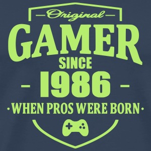 Gamer Since 1986 T-skjorter - Premium T-skjorte for menn