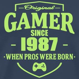 Gamer Since 1987 T-skjorter - Premium T-skjorte for menn