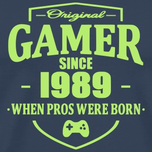 Gamer Since 1989 T-skjorter - Premium T-skjorte for menn
