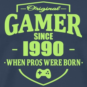 Gamer Since 1990 T-skjorter - Premium T-skjorte for menn