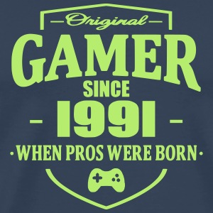 Gamer Since 1991 T-skjorter - Premium T-skjorte for menn