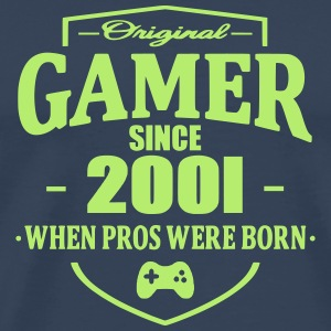 Gamer Since 2001 T-shirts - Herre premium T-shirt