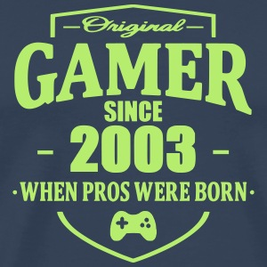 Gamer Since 2003 T-shirts - Herre premium T-shirt