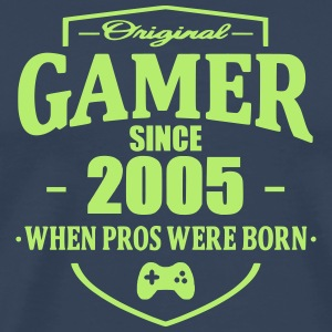 Gamer Since 2005 T-skjorter - Premium T-skjorte for menn