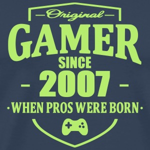 Gamer Since 2007 T-shirts - Herre premium T-shirt