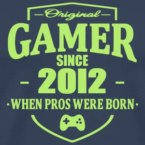Gamer Since 2012 T-skjorter - Premium T-skjorte for menn