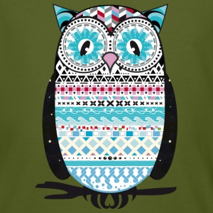 colorfully patterned owl T-Shirts - Men's Organic T-shirt