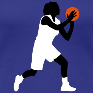 basketball_woman_112014_a_3c T-Shirts - Frauen Premium T-Shirt