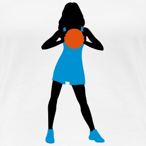 basketball_woman_112014_b_3c T-Shirts - Frauen Premium T-Shirt
