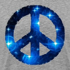 Space Peace sign, star, galaxy, light, universe,  T-Shirts - Men's Premium T-Shirt