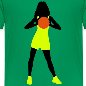 basketball_woman_112014_b_3c T-Shirts - Teenager Premium T-Shirt