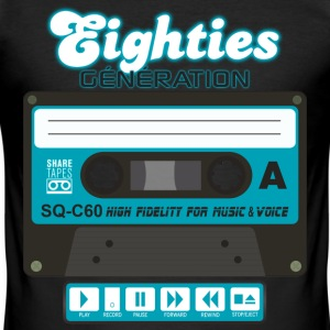 cassette audio eighties génération Tee shirts - Tee shirt près du corps Homme