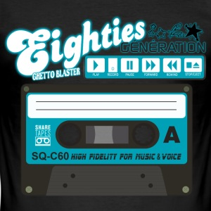 cassette audio eighties génération ghetto blaster Tee shirts - Tee shirt près du corps Homme