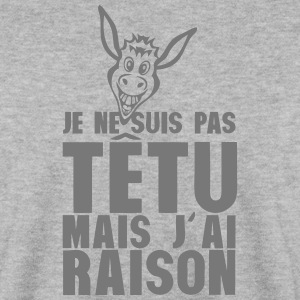 je ne suis pas tetu mais j ai raison ane Sweat-shirts - Sweat-shirt Homme