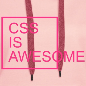 CSS Is Awesome  Felpe - Felpa con cappuccio premium da donna
