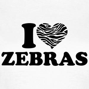 I love Zebras T-Shirts - Frauen T-Shirt