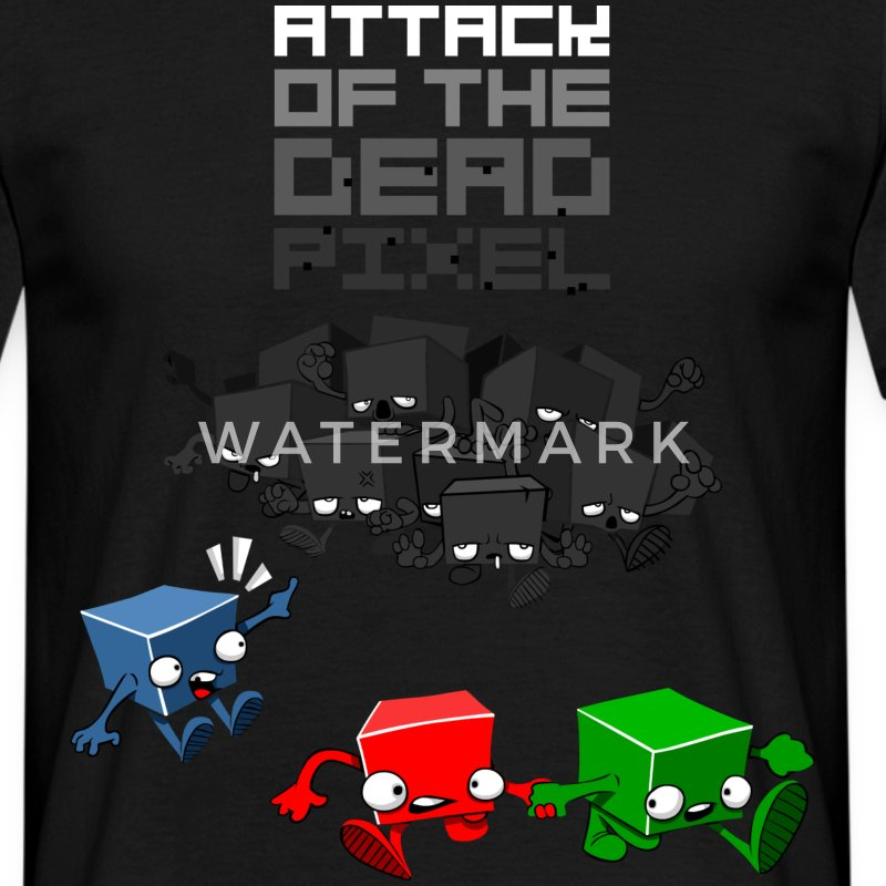 Sort dead pixel T-shirts - Herre-T-shirt