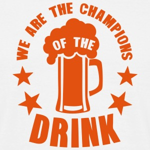 champions of the drink biere T-Shirts - Männer T-Shirt