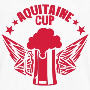 aquitaine cup biere logo alcool humour Tee shirts - T-shirt Homme col V