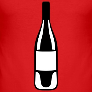 bouteille vin rouge alcool 22102 Tee shirts - Tee shirt près du corps Homme
