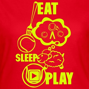 eat sleep play Tennis Schafe Bereich T-Shirts - Frauen T-Shirt