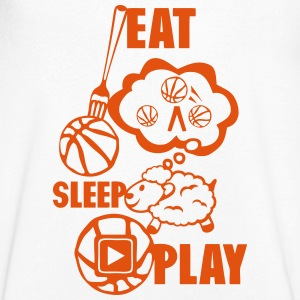 eat sleep play basketball Gabel T-Shirts - Männer T-Shirt mit V-Ausschnitt