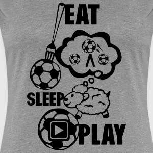 eat sleep play foot fourchette mouton 20 Tee shirts - T-shirt Premium Femme