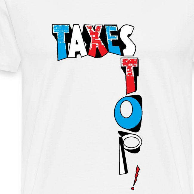 TSHIRT BLANC HOMME STOP TAXES
