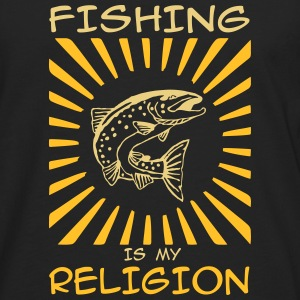 fishing is my religion Langarmshirts - Männer Premium Langarmshirt
