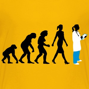 evolution_of_woman_female_doctor_112014_ T-Shirts - Teenager Premium T-Shirt