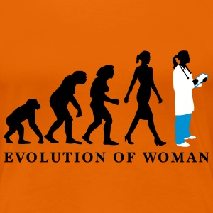 evolution_of_woman_female_doctor_112014_ T-Shirts - Frauen Premium T-Shirt