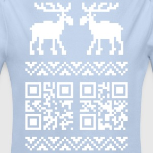 Framboise Ugly Christmas Sweater QR Code Happy New Year! Bodys Bébés - Body bébé bio manches longues