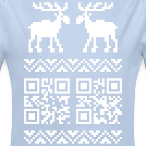 Ugly Christmas Sweater QR Code Happy New Year! Hoo - Longlseeve Baby Bodysuit