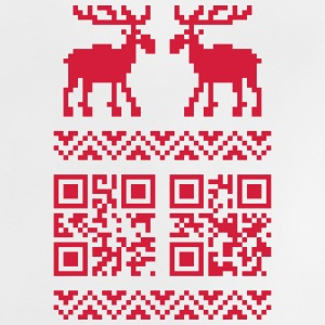 Ugly Christmas Sweater QR Code Happy New Year! Shi - Baby T-Shirt