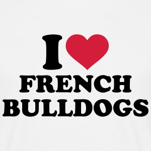 I love french bulldogs T-Shirts - Männer T-Shirt