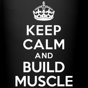 Keep calm and build muscle Bouteilles et Tasses - Tasse en couleur