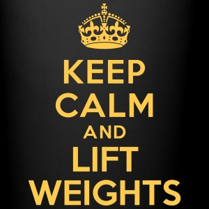 Keep calm and lift weights Bouteilles et Tasses - Tasse en couleur