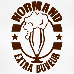 normand extra buveur biere logo alcool 1 Tee shirts - T-shirt Femme