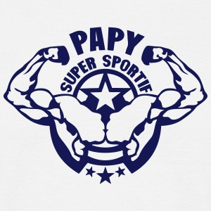 papy super sportif logo bodybuilder Tee shirts - T-shirt Homme