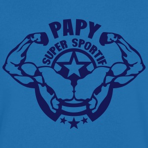 papy super sportif logo bodybuilder Tee shirts - T-shirt Homme col V