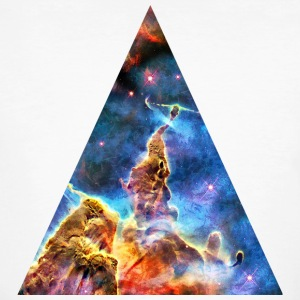 Triangle Mystic Mountain, Carina Nebula, Space, Galaxy, T-shirts - Ekologisk T-shirt herr