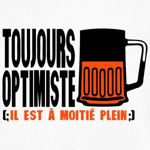toujours optimiste a moitie plein alcool Tee shirts - T-shirt Homme col V
