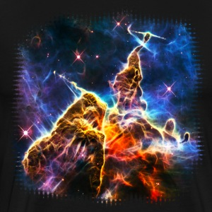 Space Galaxy, Universe, Mountains, Outerspace T-Shirts - Men's Premium T-Shirt