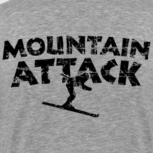 MOUNTAIN ATTACK Winter Sports Ski Design (Black) T-shirts - Herre premium T-shirt